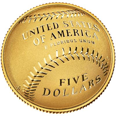 gold Baseball coin