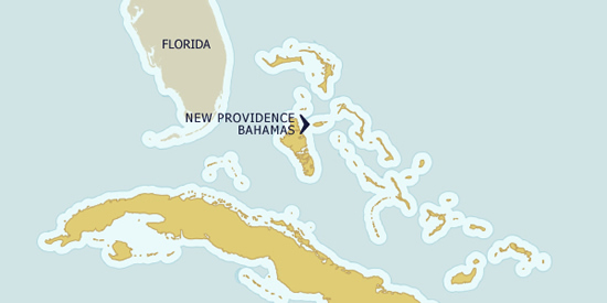 New Providence, The Bahamas on the map