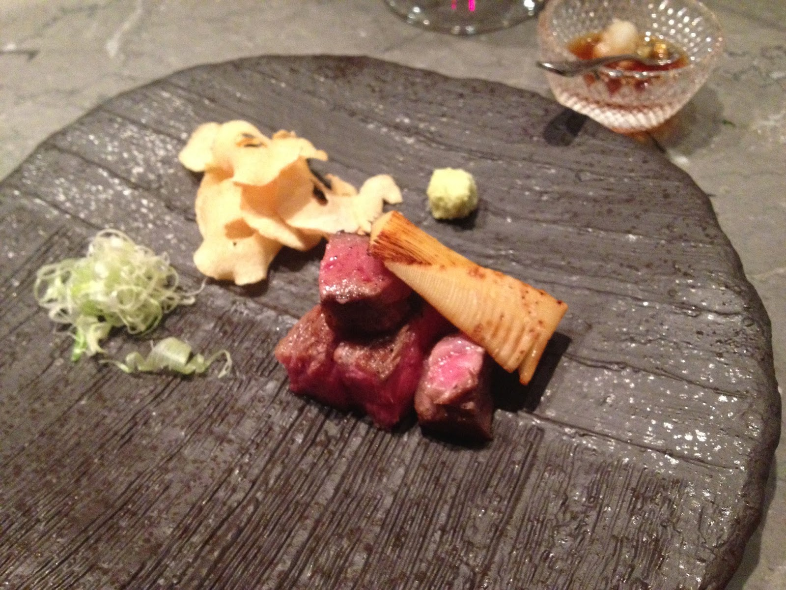 Japanese Ohmi Wagyu with Wasabi and Citrus Soy