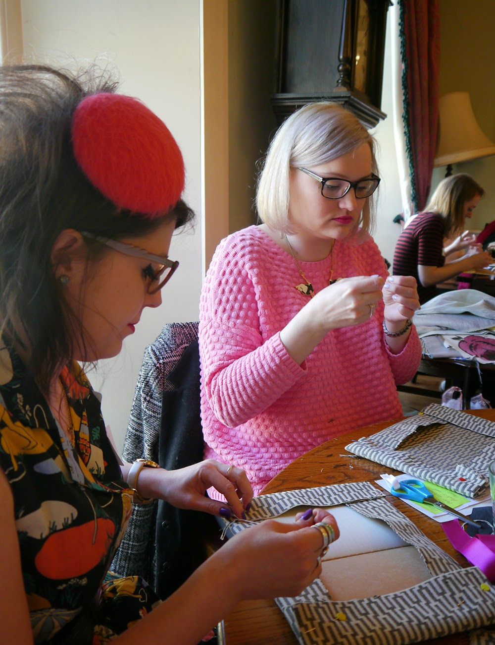 Hillarys crafternoon, Crafty Hen, how to, sewing, instructions, DIY, Glasgow, mini beret, vintage,
