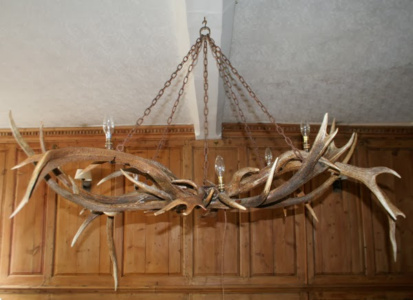Antler chandeliers no21 large sculptural chandelier using fallow red deer antlers aloadofball Image collections