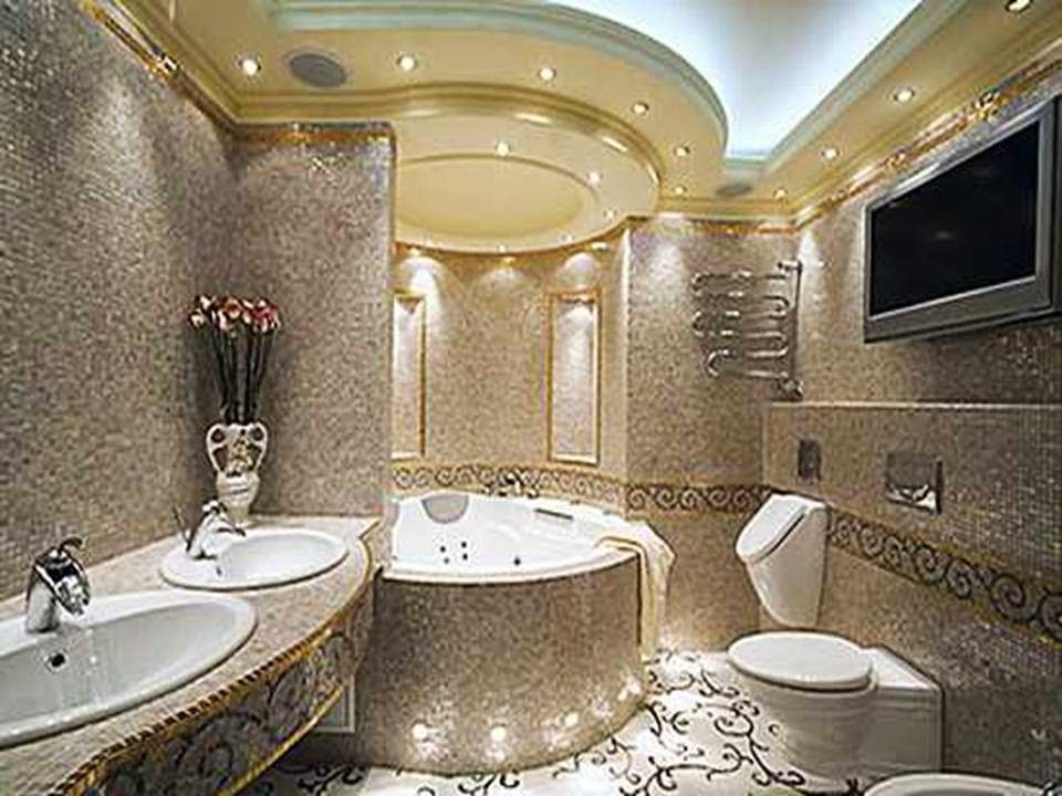 Home decor luxury modern bathroom design ideas for Decorated bathrooms photos