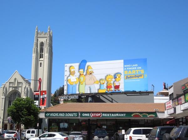 Bart's Butterfinger The Simpsons billboard Highland Avenue