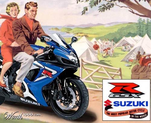 anúncios vintage - produtos modernos - Suzuki
