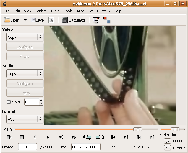 Avidemux Linux video editing softwares