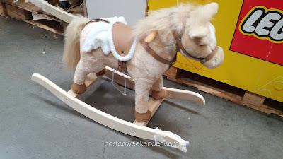Children's 28-inch Rocking Horse – Realistic saddle and stirrups