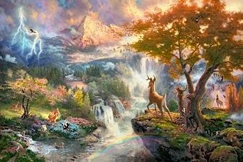 THE DISNEY DREAMS COLLECTION THOMAS KINKADE ART PETER PAN JUNGLE BOOK LION KING