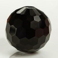 black ball beads cubic zirconia