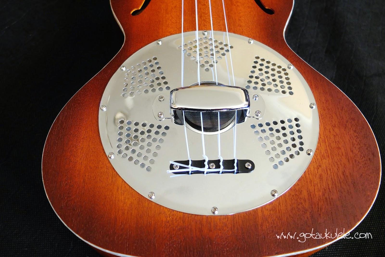 Kala KA-RES- CHR Tenor Resonator ukulele cone