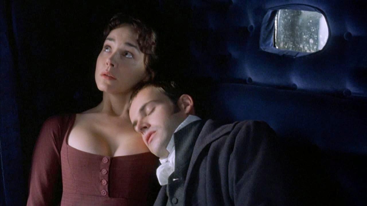 Jonny Lee Miller as Edmund Bertram, Frances O'Connor as Fanny Price
