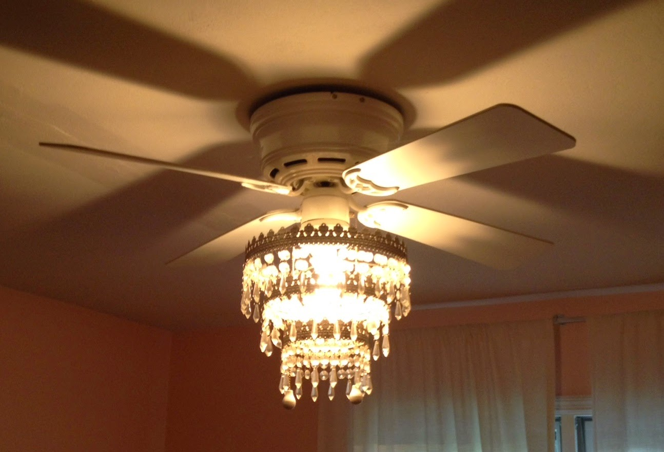 mess of the day: ikea hack ceiling fan chandelier