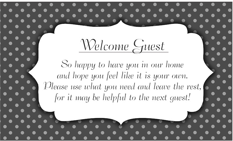 welcome words for guests