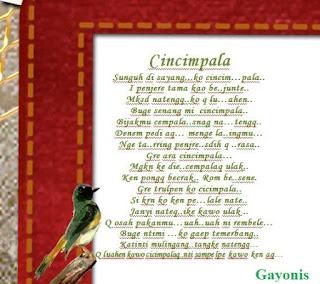 Lirik Lagu Cicimpala Swirni