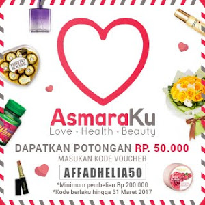 Voucher 50k at ASMARAKU.COM
