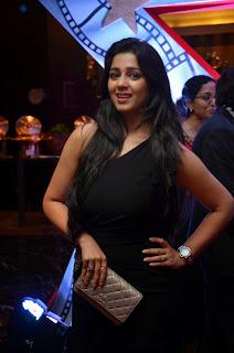 Charmy Kaur in Beautiful Black Tight Dress at Masti Tickets Launch