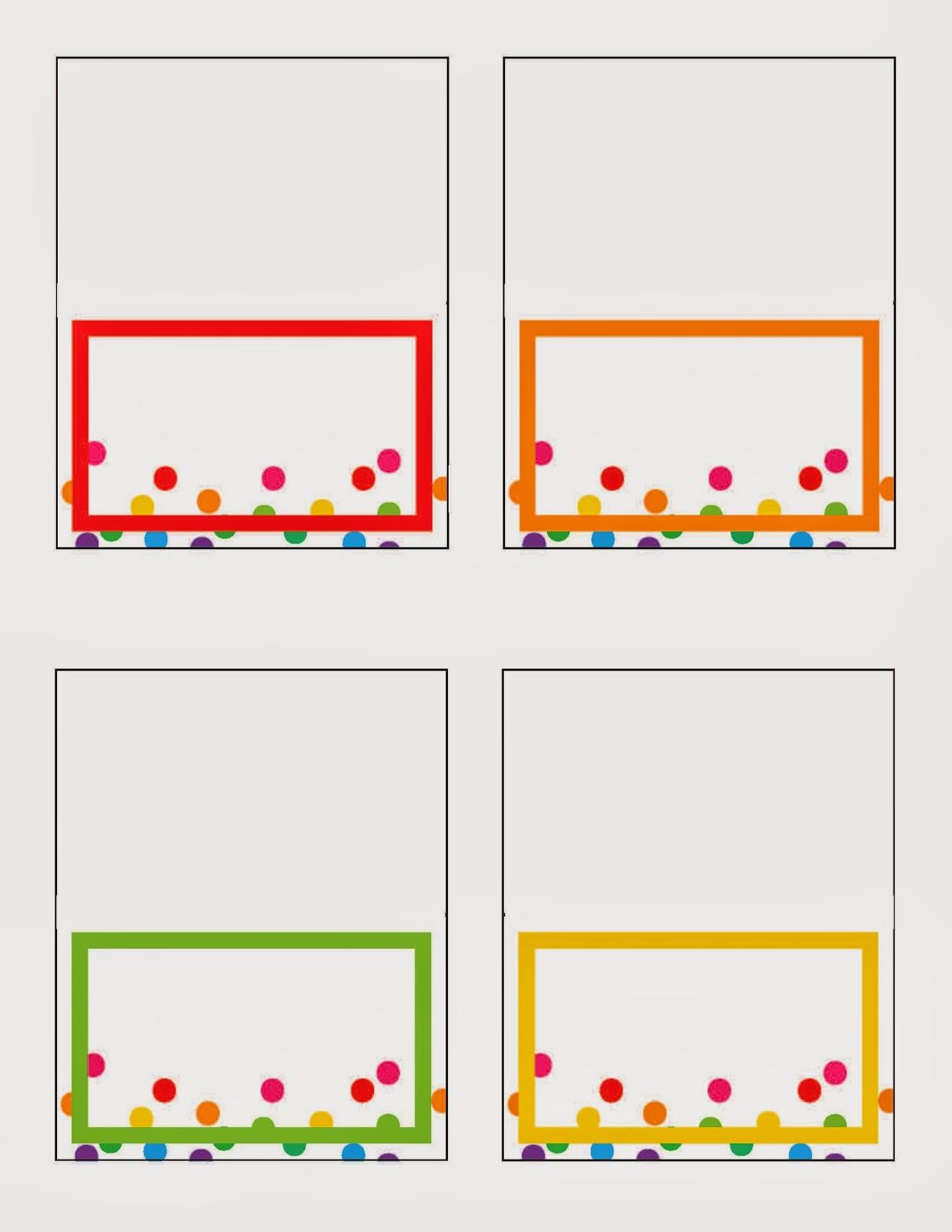 everyday art rainbow party printables free