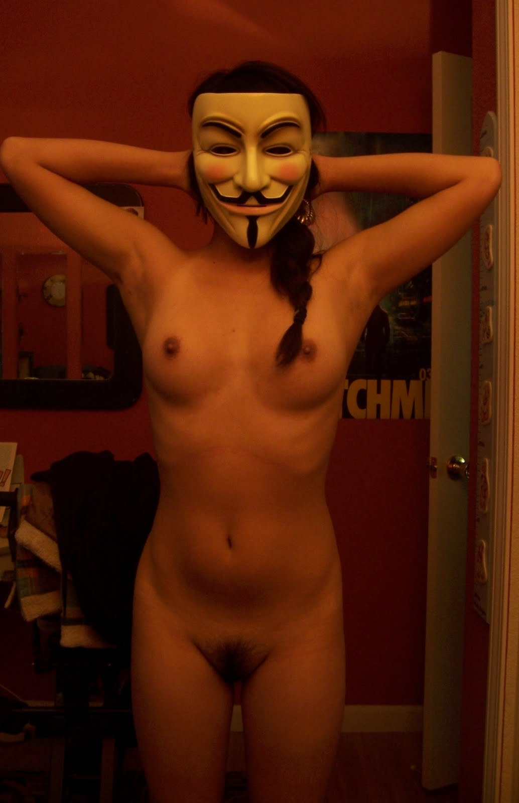 fawkes mask nude Guy
