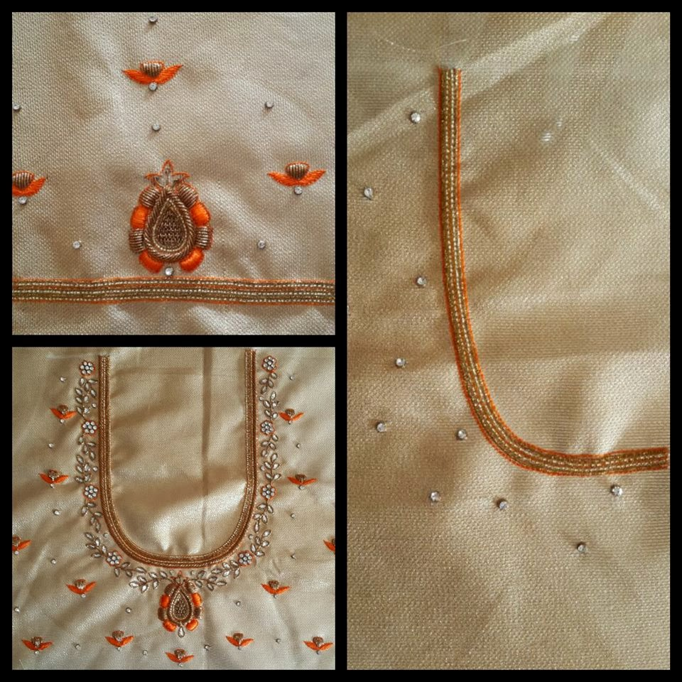 Sparkling Fashion Simple Designer Work Blouses For Pattu Silk Sarees,Lace Simple Blouse Back Neck Designs Images