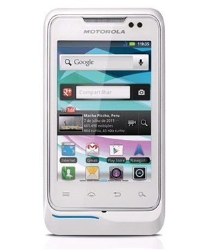 Motorola XT303 Blanco Tienda Claro Perú