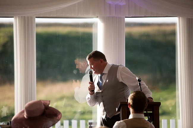 Wedding Photography Doonbeg Ireland, father of the bride speech