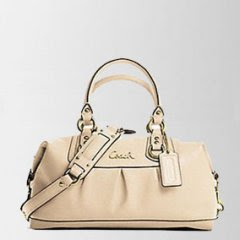 Coach 15445 Leather Ashley Sabrina Convertible Satchel white