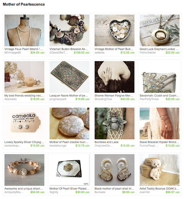 treasury featuring pearlescent gift ideas