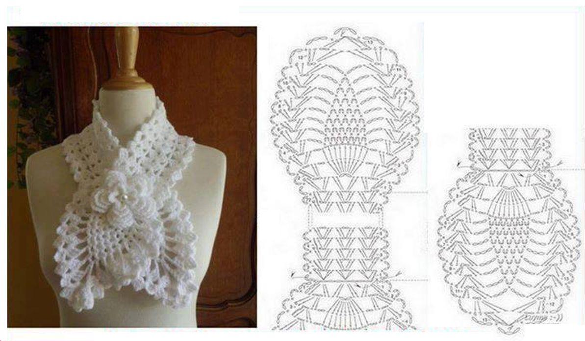 Cuellos a crochet patrones - Imagui