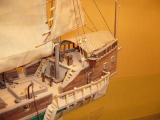 maqueta de un junco chino pirata marca artesania latina