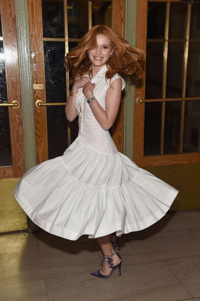 Bella Thorne attends the Zac Posen SS16 NYFW Show