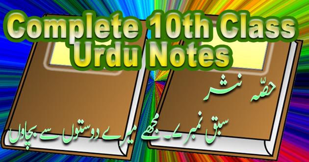 10th Class Urdu Sabaq# 7