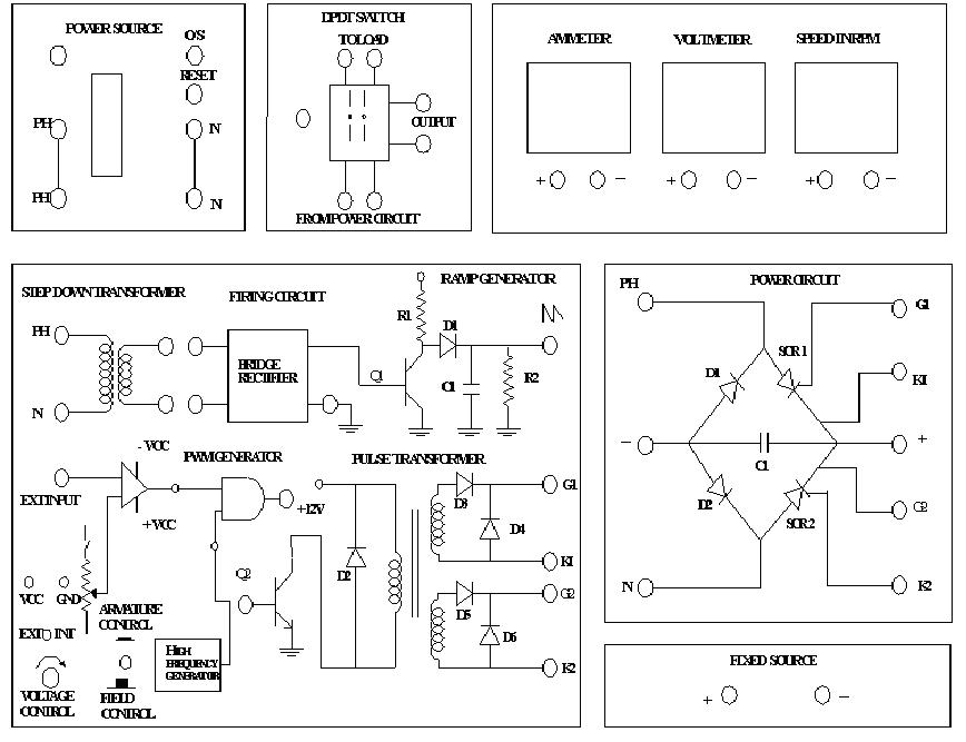 determination of transfer function of field controlled dc servo motor patching diagram to