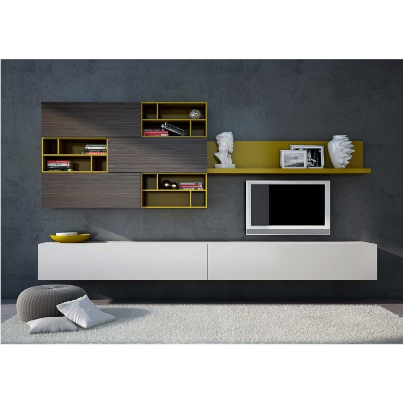 meuble tv suspendu bois meuble tv. Black Bedroom Furniture Sets. Home Design Ideas