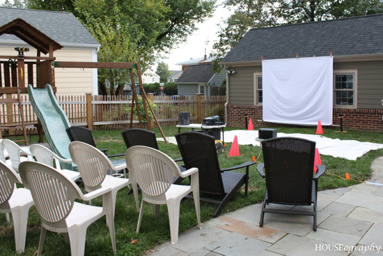 HOUSEography: Party: Backyard Movie Night