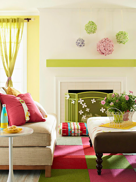 Modern furniture 2013 spring living room decorating ideas for Spring living room ideas