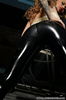 Perfect Tight Ass in Tight Shiny Latex Leggings Becky Holt Latex Heaven