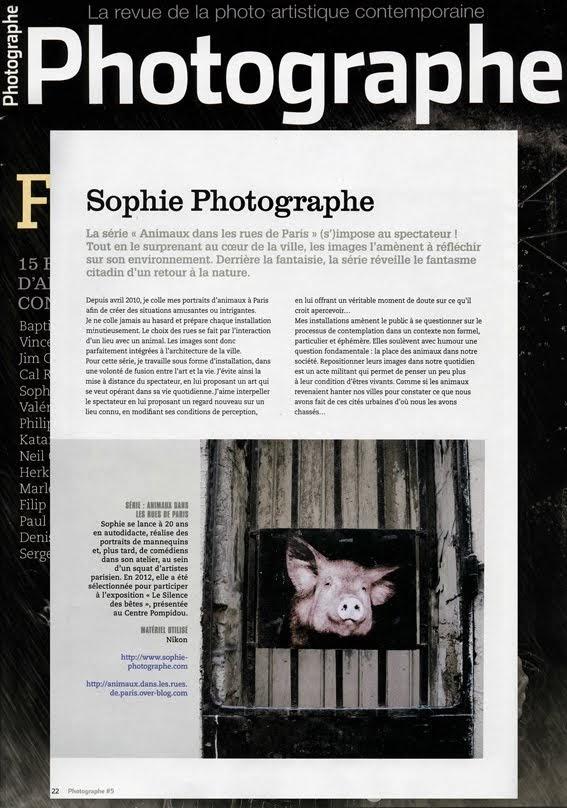 PHOTOGRAPHE , mai juin juillet 2013