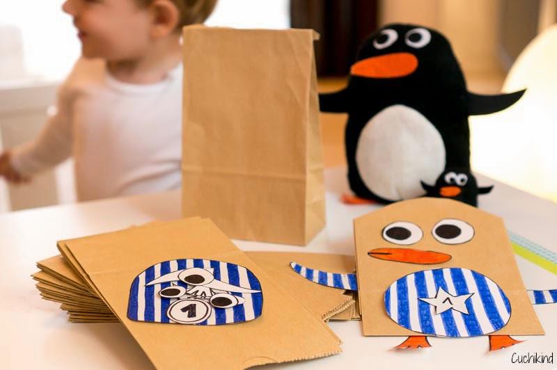 Cuchikind diy blog basteln und n hen f r kinder tutorial pinguin adventskalender - Pinguin basteln vorlage ...