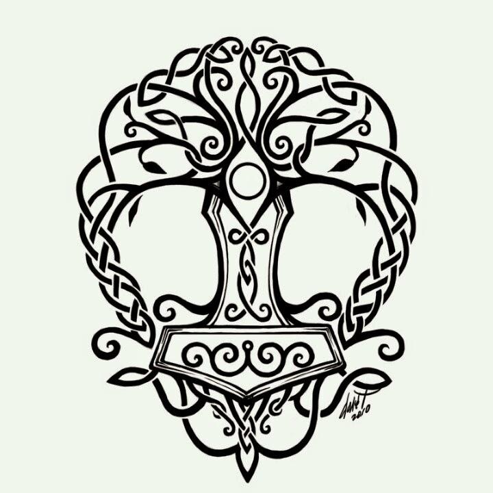 Árbol de la vida - Martillo de Thor