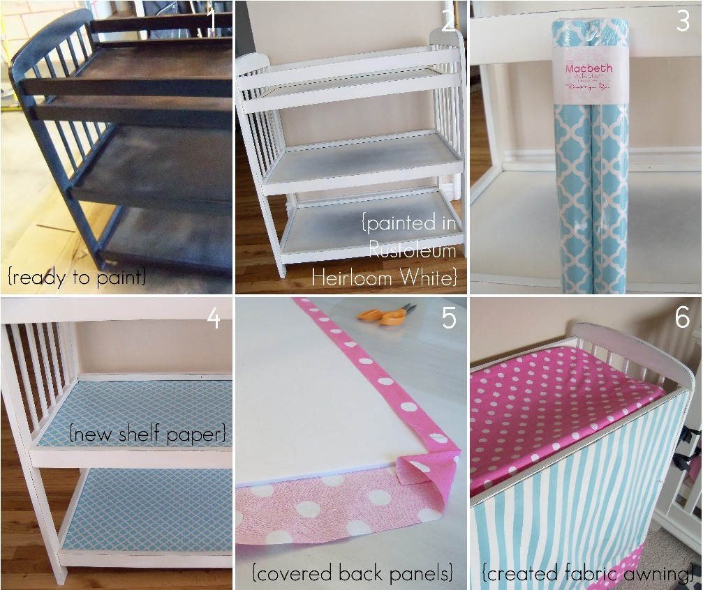 So, Today I Am Going To Show You How I Transformed Her Plain Jane Changing  Table, And Created A Fabric Panel That Can Fold Up Into An Awning.