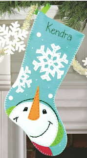 Catching Snowflakes Felt Christmas Stocking Kit