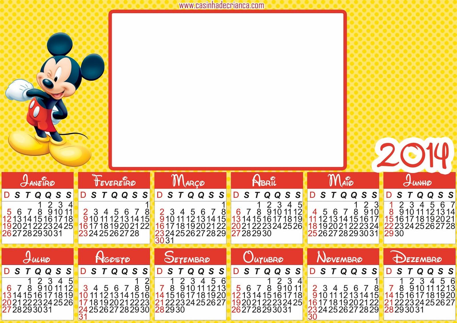 calendario mickey 2014