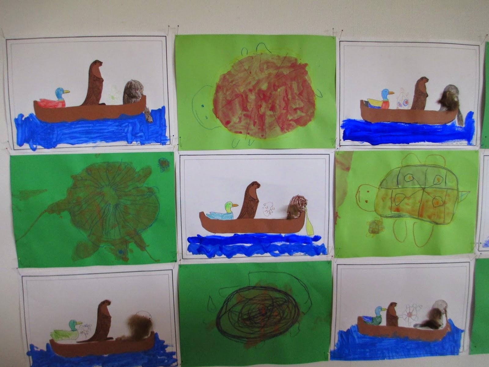 Malen und Basteln im Kindergarten