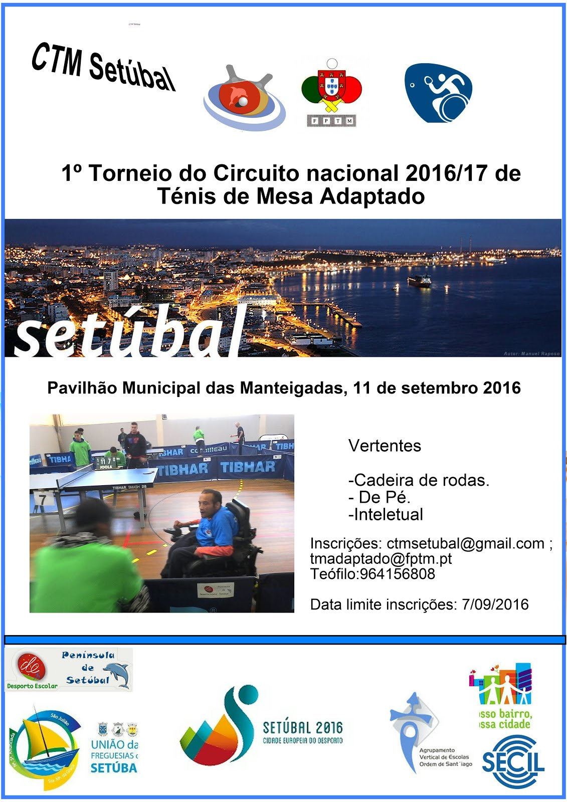 1ºtorneio do circuito nacional TM adaptado 2016/17
