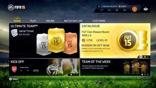 Fifa 15 activate bonus fut coins in ultimate team mode