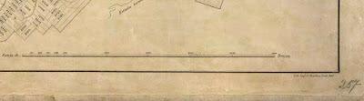 Detalhe do Norte da planta de Otto Reimarus para Petrópolis, RJ, em 1854