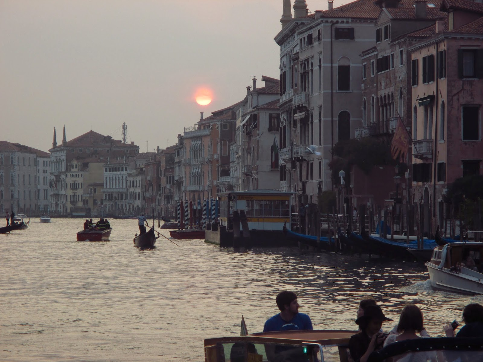 venice canal sunset