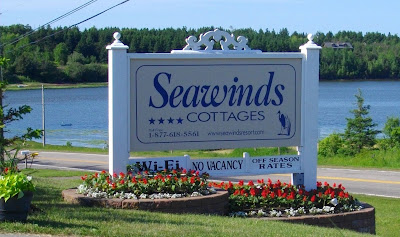 Seawinds Cottages Sign