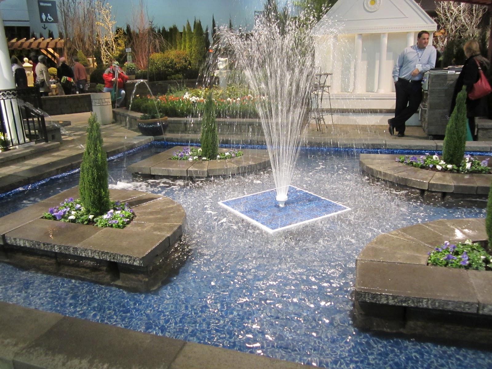 Sprouts a few photos from the yard garden patio show for Garden fountains portland oregon