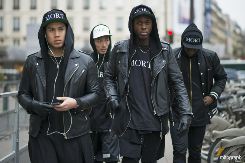 mitograph Team MORT Before Balmain Paris Fashion Week 2013 2014 Fall Winter Street Style Shimpei Mito