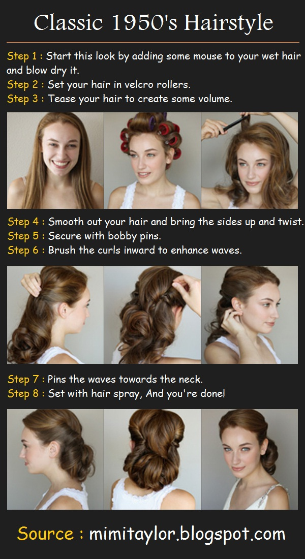 Classic 1950's Hairstyle | Pinterest Tutorials